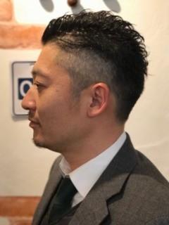 ☆ビジネスシーンも対応☆大人のブロックスタイル【AO-AQUA】のヘアスタイル1